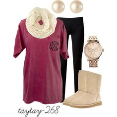 """comfy in crimson"" by taytay-268 on Polyvore"