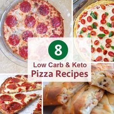 A list of the best low carb and keto pizza recipes. The recipes range from simple to complex ingredients and all are absolutely delicious!