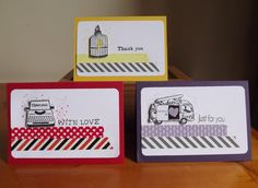 Little Miss Scrappy - Confessions of a Scrap Addict: More washi tape cards