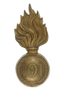 Other ranks' busby badge, 101st Regiment of Foot (Royal Bengal Fusiliers), 1862 (c)