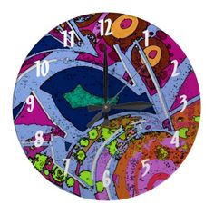 Graffiti Design Wall Clock