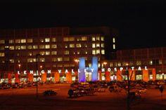Notice something different about the exterior of Lehigh Valley Hospital—Muhlenberg? During the month of February, the facade has been lit in red to support Go Red for Women as part of the American Heart Association's (AHA) Heart Awareness Month.