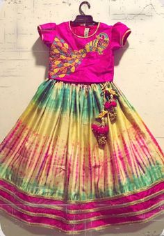 Dressing Up Your Little Fashionista For Weddings! Kids Indian Wear, Kids Ethnic Wear, Frocks For Girls, Little Girl Dresses, Girls Dresses, 1st Birthday Girl Dress, Kids Dress Wear, Kids Wear, Kids Lehenga
