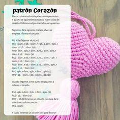 🌾 #febrero el mes del #amor! Y antes que termine y como agradecimiento por la compañía de todos los días y que ya somos +3000❤ les… Crochet Bunny Pattern, Crochet Daisy, Crochet Mandala Pattern, Crochet Bear, Crochet Home, Cute Crochet, Crochet Dolls, Crochet Patterns, Crochet Potholders