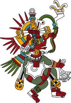 Quetzalcoatl. Re Maya molto feroce, detto anche serpente piumato