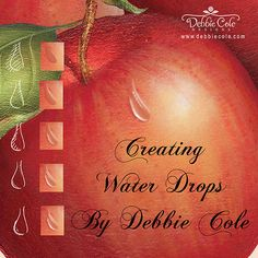 Can we just say... we're in AWE! This is amazing! Tuesday Tips - Creating Water Drops by Debbie Cole, CDA