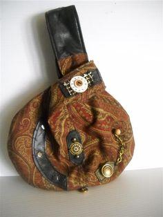 Steampunk - Wristlet  bag- ref ws07. $48.00, via Etsy.