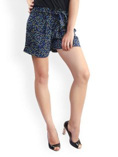 Buy Belle Fille Women Navy Printed Shorts  Rs. 999. Printed Shorts e5bbff910