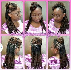 @Necijones Dreadlock Styles, Dreads Styles, Dreadlock Hairstyles, Sisterlocks, Black Girls Hairstyles, Updo, Caribbean, Natural Hair Styles, Hair Care