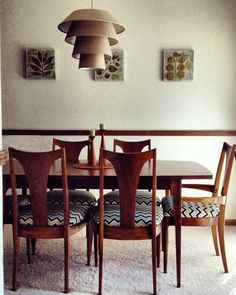 Mid Century Broyhill Brasilia Table And Chairs My Dining Set