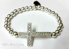 Hey, I found this really awesome Etsy listing at https://www.etsy.com/listing/123904942/beaded-cross-bracelet
