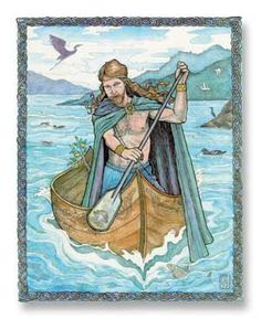 Manannan Mac Lir - (May-nah-naun Mac Leer)   Celtic (Irish & Welsh)Patron of sailors and merchants. His famed possessions include the yellow shaft, the red javelin, the boat, the wave-sweeper, a horse called Splendid Mane, and three swords named retaliator, great fury, and little fury, the chief Irish sea God whose special retreat was the Isle of Man. In Wales his name was Manawydan Ap Llyr. He also had a suit of armor that made him invisible; and his swine kept the Tuatha de Danaan from…