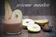 Jesienne smoothie- jabko, gruszka, łyżka masła orzechowego. Prosto i smacznie. www.fitlinefood.com