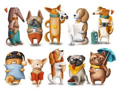 Ознакомьтесь с моим проектом @Behance: «Dog characters» https://www.behance.net/gallery/58246345/Dog-characters