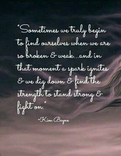 Stand strong & fight on