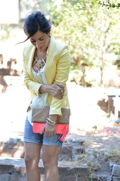 I Heart Vintage Couture - by Annette Vartanian: How to Wear a Yellow Blazer #15 - Weekend Wear