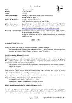 Fiche pédagogique FLE - Impératif by Ecole CIEL Bretagne via slideshare