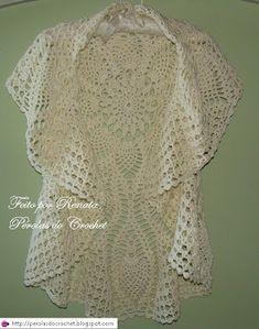 Circular Jacket free crochet graph pattern by Mellissia