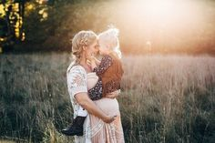Rustic bohemian family maternity photos