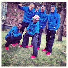 Freeze Frame crew representing in the finest FUBU gear #fubuafrica #freezeframe #fubu