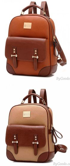 New British Style Vintage Leather Backpack for big sale! #vintage #Leather #school #student #college #fashion #sweet #backpack #Bag #canvas #rucksack #travel