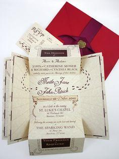 Romance Managed! Harry Potter Wedding Invitations.