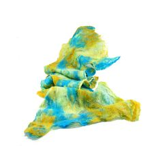 Cobweb Felted Scarf Wool Scarf Winter Scarf Gift for by Fibernique