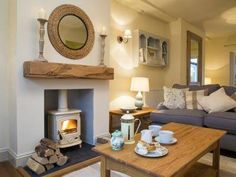 The cosy and luxurious sitting room at Plum Tree Cottage in Keswick. The owner i… The cosy and luxurious sitting room at Plum Tree Cottage in Keswick. The owner is an interior designer and the house is beautifully furnished throughout. New Living Room, House Interior, Cosy Fireplace, Living Room Diy, Trendy Living Rooms, Cosy Living Room, Home And Living, Cottage Living Rooms, Home Living Room