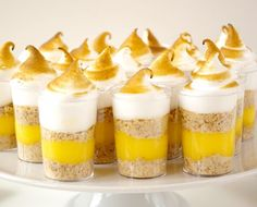 If you don't feel like making pie crust, why not turn to these lemon meringue pie shooters?