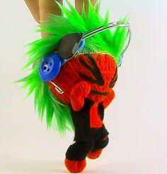 """Size 4"""" Handmade Headphone Punk Rock Punker Rocker Voodoo Doll Key chain Key ring  $2.99 on http://www.ebay.com/itm/330737952387"""