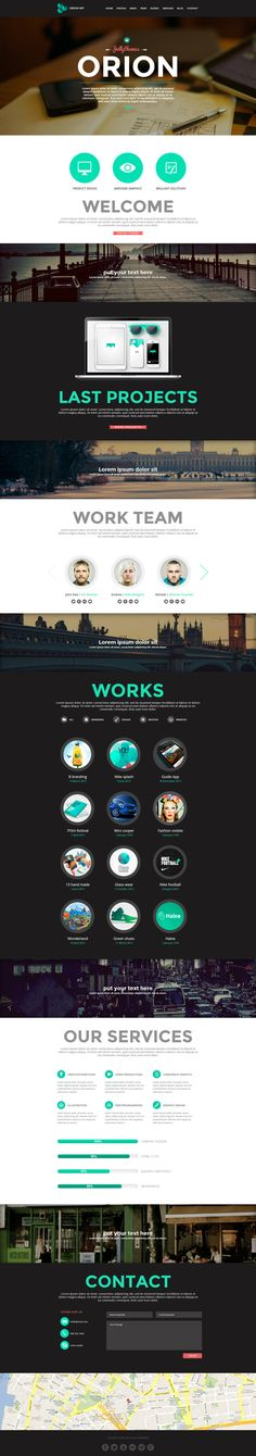 Orion  One Page Wordpress Template by Medusateam , via Behance