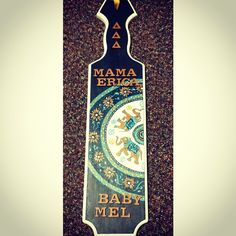 Pretty Tri Delta paddle I would LOVE a bohemian/Indian design for my paddle, must casually drop hints to little...