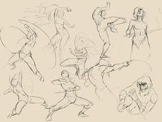 Dynamic Fighting Poses Dynamic actions and poses