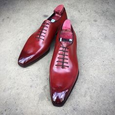 Handmade Men's Maroon Patina whole cut oxfords for men custom leather shoes men - Dress/Formal Lace Up Shoes, Me Too Shoes, Men's Shoes, Shoe Boots, Dress Shoes, Shoes Men, Leather Men, Leather Shoes, Custom Leather