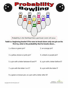 Printables 7th Grade Probability Worksheets simple and worksheets on pinterest bowling probability