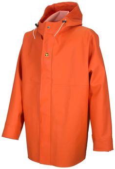 Guy Cotten Gamvik regnjakke Fisher, Hooded Jacket, Hoods, Raincoat, Zip, Fasteners, Fabric, Cuffs, Fashion