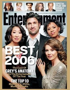 Magazine photos featuring Ellen Pompeo on the cover. Ellen Pompeo magazine cover photos, back issues and newstand editions. Entertainment Center Makeover, Entertainment Weekly, Chandra Wilson, List Of Magazines, Ellen Pompeo, Cover Photos, 29 December, The Unit, Entertaining