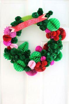 Honeycomb Wreath DIY