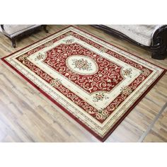 Bekmez Rug Super Belkis Oriental Red Polypropylene Machine-made Rectangular Area Rug (4' x 6') (Red), Size 4' x 6'