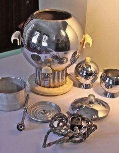 It's Vintage Coffee Time Walter Von Nessen Coronet 3-Piece Coffee Service C. 1939.