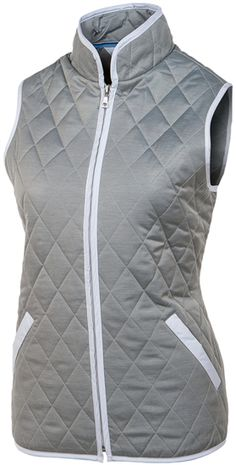Tommy Hilfiger Golf Louise Quilted Vest Grey Heather | Golf4Her