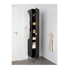 LILLÅNGEN Élément armoire 1 porte - brun noir - IKEA