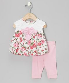 Take a look at this Pink Floral Bubble Tunic & Leggings - Infant, Toddler & Girls by Beetlejuice London on #zulily today!