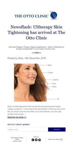 Posted by Glow, November, 2018 Younger Looking Skin, Jawline, Skin Tightening, Facials, Collagen, Clinic, Brows, How To Find Out, November