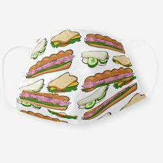 Deli Food, Food Patterns, Fashion Mask, Food Humor, Sandwiches, Masks, Lunch, Bread, Homemade