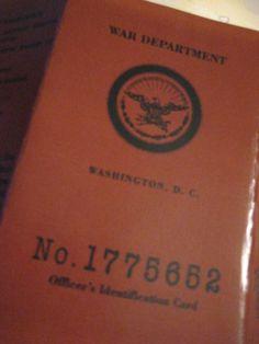 Indiana Jones War Department Identification Card | eBay
