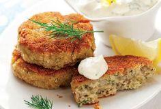 Μπιφτέκια ψαριού Salmon Burgers, Ethnic Recipes, Food, Salmon Patties, Essen, Yemek, Meals