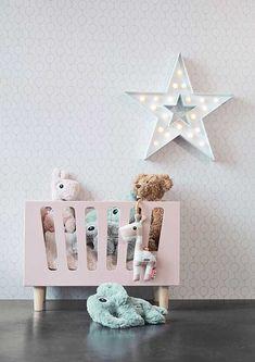 Done by Deer Dolls poppenbed powder > Meubeltrack Girl Nursery, Girl Room, Done By Deer, Fantasy Bedroom, Style Boho, Doll Beds, Musical Toys, Idee Diy, Baby Store