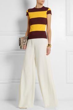 Stella McCartney|Striped stretch-jersey top|NET-A-PORTER.COM