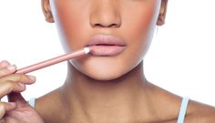 A classic nude lip with Double Wear Stay-in-Place Lip Pencil.